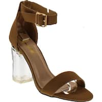 Static Footwear Oya-1 Clear See Through Dress Sandal W Lucite Perspex Acrylic High Heel