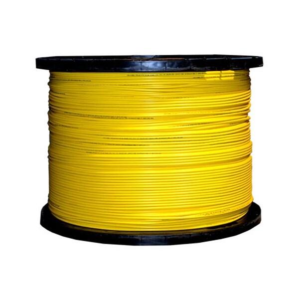 Offex 6 Fiber Indoor Distribution Fiber Optic Cable, Singlemode, 9/125, Yellow, Riser Rated, Spool, 1000 foot