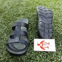 Pali Hawaii JAYA BLACK Sandals with Certificate of Authenticity