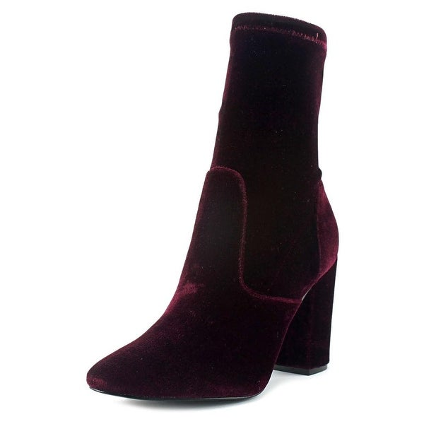 Ivanka Trump Lynna Women Pointed Toe Synthetic Burgundy Ankle Boot