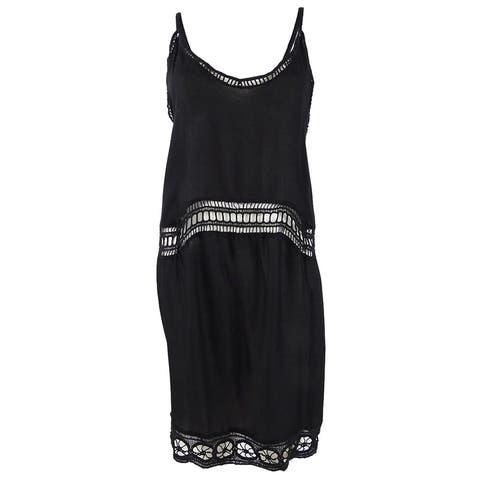 Raviya Women's Crochet-Inset Dress Swim Cover-Up