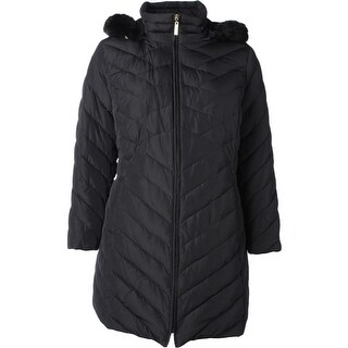 Ellen Tracy Womens Basic Coat Duck Down Quilted