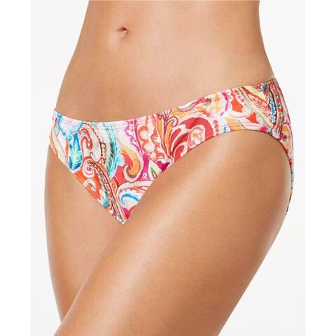 Lauren Ralph Lauren Sunrise Printed Hipster Bikini Bottom Size: 10