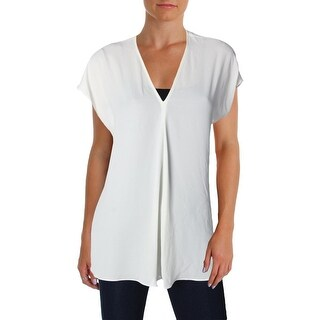 Lauren Ralph Lauren Womens Andreya Blouse Georgette Short Sleeves