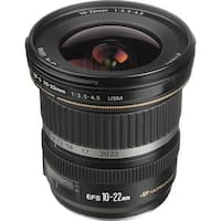 Canon EF-S 10-22mm f/3.5-4.5 USM Lens (International Model)