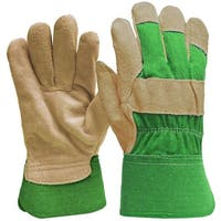 Digz 77235-26 Women's Suede Leather Palm Gloves, Small, Green