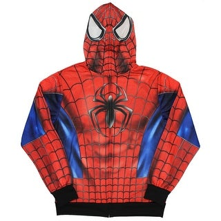 Marvel Spider-Man Hoodie Men's Costume Sublimated Full Zipper With Mask (5 options available)