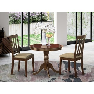 Link to Cappuccino Round Table Plus 2 Kitchen Chairs 3-piece Dining Set Similar Items in Dining Room & Bar Furniture