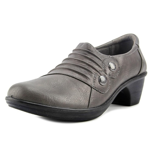 Easy Street Edison Women W Round Toe Synthetic Gray Loafer
