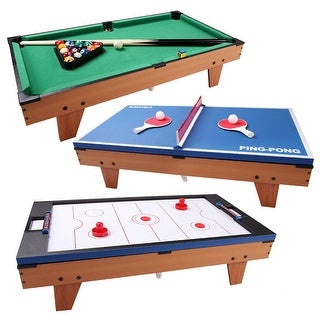 Costway 3 In 1 Multi Table Game Air Hockey Tennis Billiard Pool Table Christmas Gift