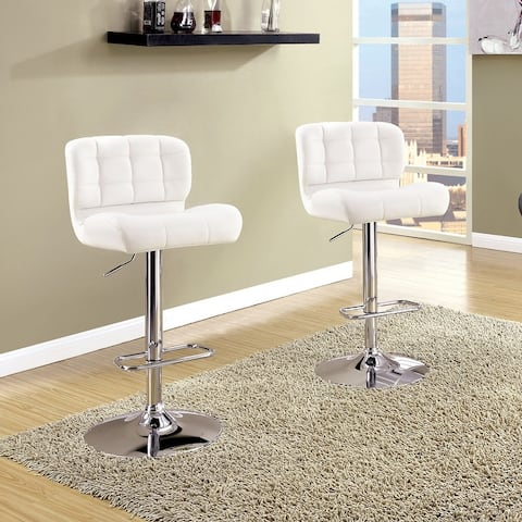 Furniture of America Beas Contemporary Swivel Bar Chair (Set of 2)