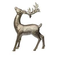 "11"" Glittered Golden Deer Christmas Tabletop Figurine - Gold"