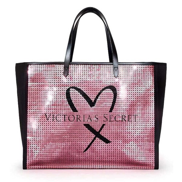 d7a947b1cfbafc Shop Victoria's Secret Showstopper Sequin Bling Tote Bag Pink/Black - One  size - Free Shipping On Orders Over $45 - Overstock - 24085771