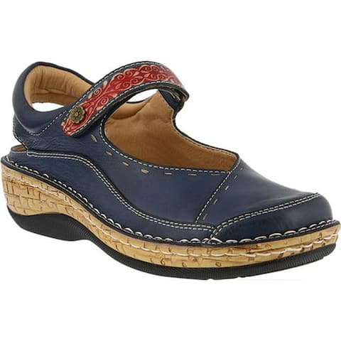 L'Artiste by Spring Step Women's Hyalona Mary Jane Navy Leather