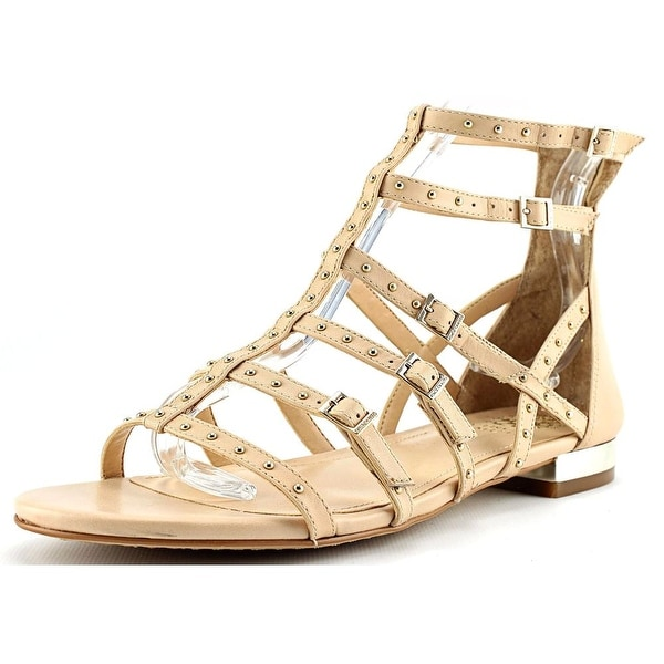 Vince Camuto Hevelli Women Open Toe Leather Nude Gladiator Sandal
