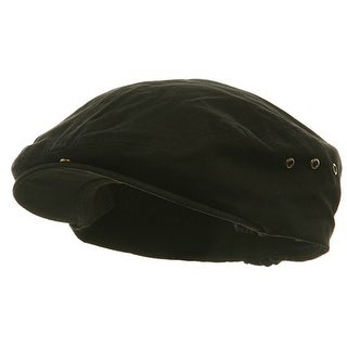 Washed Canvas Ivy Cap,Blk