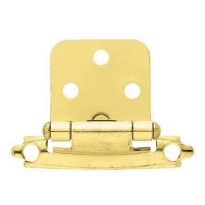 "Liberty Hardware H0103BL-PB-U Self-Closing Overlay Hinge 3/8"", Polished Brass"