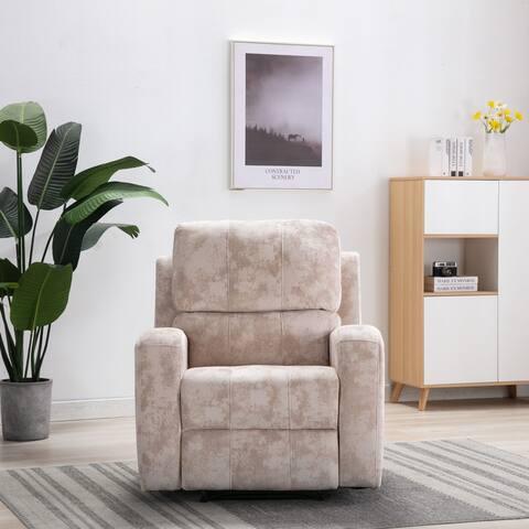 Comfortable Velvet Fabric Recliner