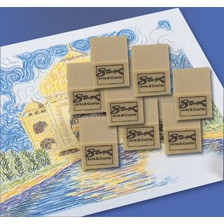 Sax Art Gum Block Erasers, 1 x 1 x 1/2 Inches, Pack of 24