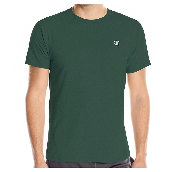 25bbd082 Shop Champion NEW Dark Green Mens Size Small S Crewneck Logo Tee T-Shirt -  Free Shipping On Orders Over $45 - Overstock - 18706630