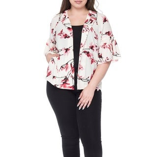 Bobeau Ash Plus Size Puff Sleeve Jacket