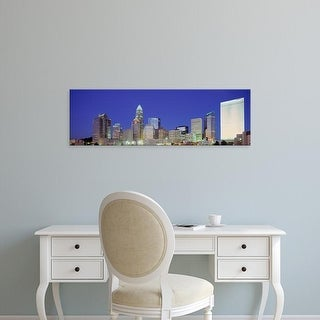 Easy Art Prints Panoramic Images's 'USA, North Carolina, Charlotte, View of a cityscape at night' Premium Canvas Art