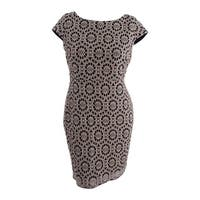 Tommy Hilfiger Women's Lace Sheath Dress - Gold/Black