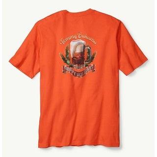 Tommy Bahama Pursuit of Hoppiness Medium Blaze Orange T-Shirt