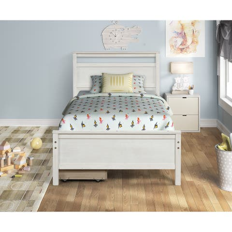 TiramisuBest TWin SLEIGH BED BRUSHED WITH 2 DRAWERS