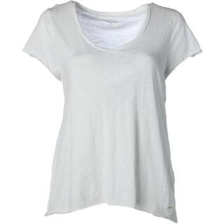 Calvin Klein Womens Cotton V-Neck T-Shirt - L