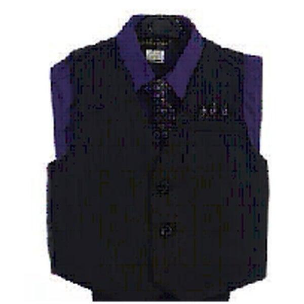 Angels Garment Purple 4 Piece Pin Striped Vest Set Boys Suit 2T-4T