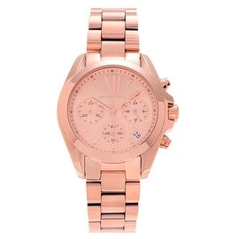 Michael Kors Women's 'Bradshaw' MK5799 Rose Goldtone Stainless Steel Chronograph Bracelet Watch