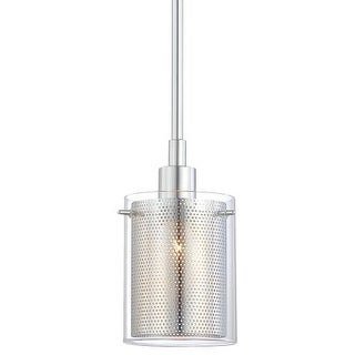 "Kovacs P960 1 Light 6"" Height Mini Pendant from the Grid II Collection"