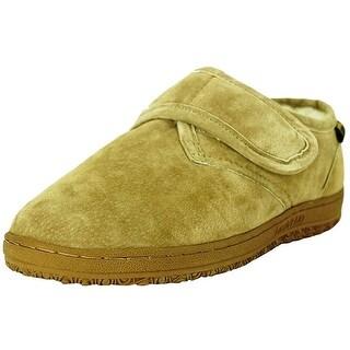 Old Friend Slippers Mens Sheepskin Fleece Bootee Wide Chestnut 421204