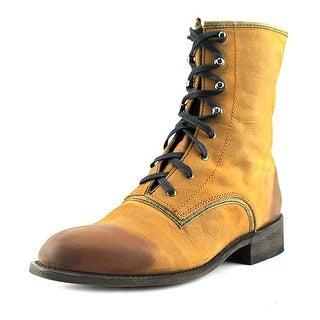 Independent Boot Company Prospect Round Toe Leather Western Boot
