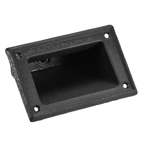 Recessed Speaker Handle Grasp Pocket Style 5.2'' Length for Speaker Cabinet Box - Black