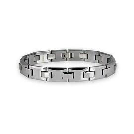 Tungsten Carbide Link Bracelet - 8.5 inches