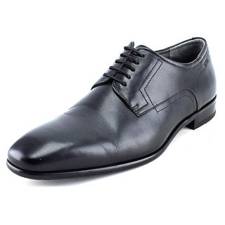 Boss Hugo Boss C-Huder Men  Plain Toe Leather Black Oxford