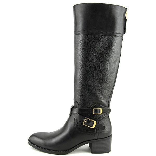 Franco Sarto Womens Lapis Wide Calf Leather Almond Toe Knee High Fashion Boots