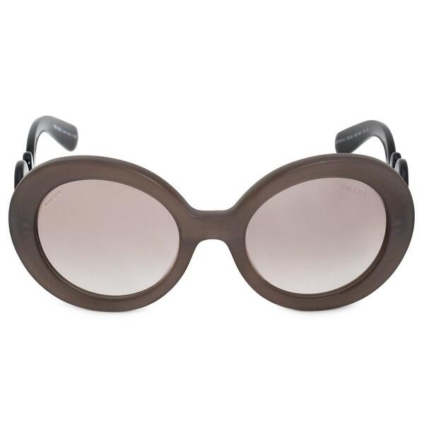 f2d7a265871f Shop Prada Minimal Baroque Round Sunglasses PR27NSA UBU4O0 55 - Free ...