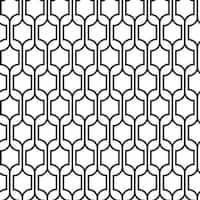 York Wallcoverings KB8652 Trellis Wallpaper - BLACK/WHITE