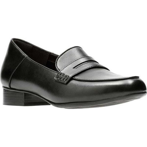 d75382adf2a Shop Clarks Women s Keesha Cora Penny Loafer Black Leather - Free ...