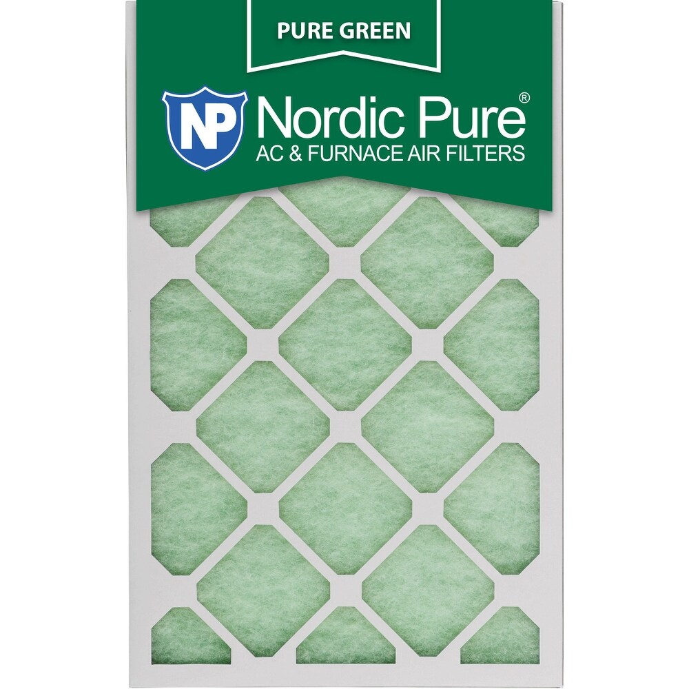 Nordic Pure 12x18x1 Pure Green AC Furnace Air Filters Qty 24