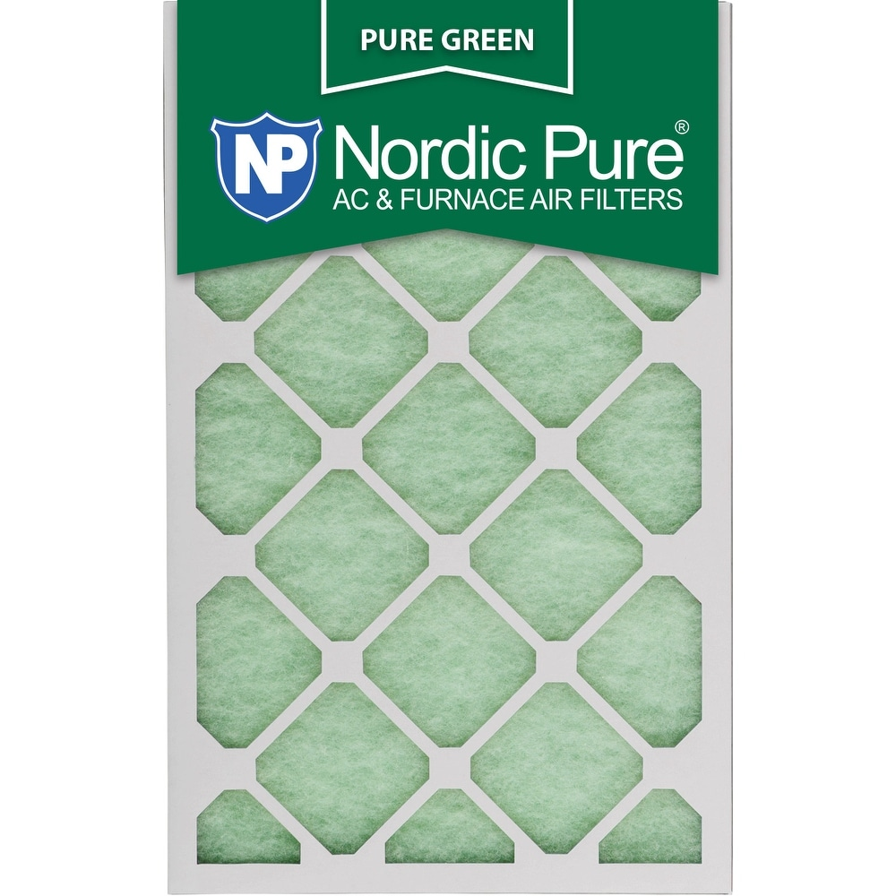 Nordic Pure 18x25x1 Pure Green AC Furnace Air Filters Qty 24