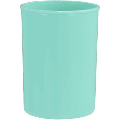 """Reston Lloyd Plastic Holder Utensil Jar, Seafoam - 4. 75""""D x 6. 5""""H"""