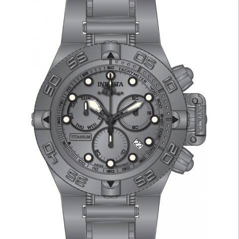 Invicta Men's 33721 'Subaqua' Noma IV Titanium Stainless Steel Watch - Silver