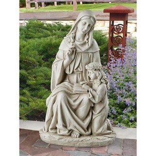 Design Toscano St. Anne with the Young Mary, Mother of Jesus Statue