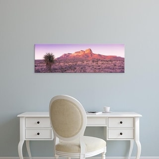Easy Art Prints Panoramic Image 'Morning, Mountain, National Park, Guadalupe Mountains, Texas, Uniteds' Canvas Art