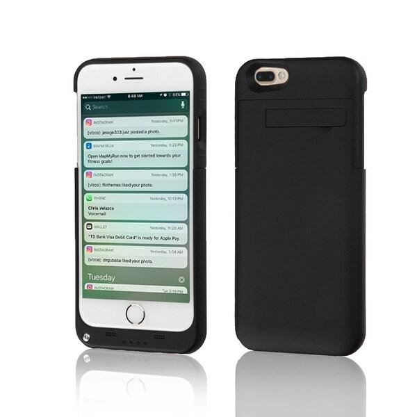 Indigi® Ultra Slim Rechargeable External Battery Case for iPhone 7 Plus - Matte Black - 4000mAh