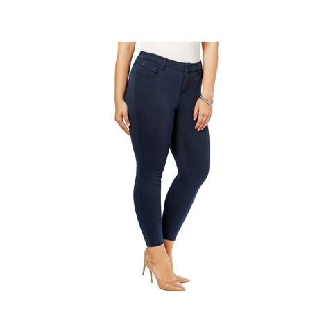 Celebrity Pink Womens Plus Jeggings Ankle Skinny Washed